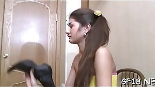 sexy video: Legal age teenager places lips put on pretty girl