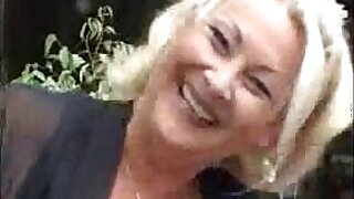 sexy video: NaughtyBlonde mounts old granny hardin action