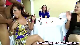 sexy video: Cfnm stripping and sluts facefuck