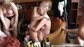 sexy video: Crazy real homemade hardcore sex with a gangbang