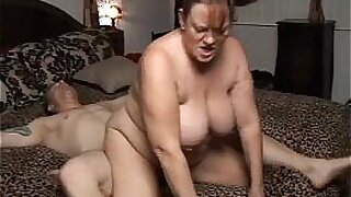 sexy video: Sexy chubby mature cummed on and fucks massive cock and gets huge facial