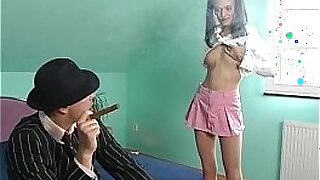 sexy video: Blonde teen assfucked lesson