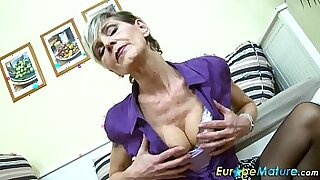 sexy video: Bigtitted Granny gets solo work