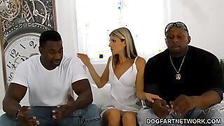 sexy video: Ebony gf cleans office with her long cock