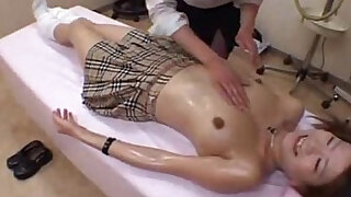 sexy video: school girl massage and