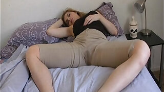 sexy video: Candle Box female desperation wetting her jeans