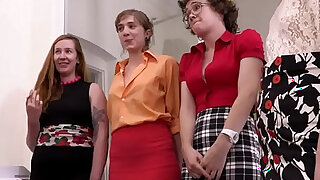sexy video: Hairy cunts and assholes licked at the office