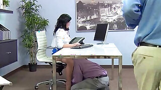 sexy video: casey cumz Big Tits Office with Slut Girl Get Hard doggy Style Nailed video