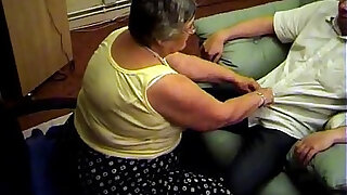 sexy video: Grandma libby from gives a hot blowjob and footjob