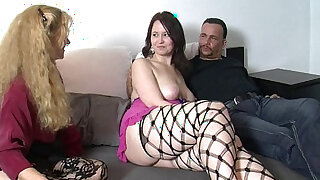 sexy video: Busty german harlot take cock in threesome