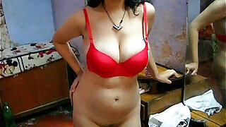 sexy video: Bengali Indian Sexy Savita In Red Lingerie