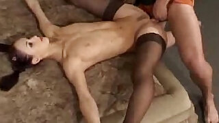 sexy video: Flexible gymnast gets her tits fucked
