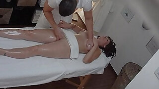 sexy video: Busty blonde MILF gets Fucked During Massage