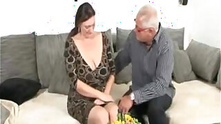 sexy video: Old Man and German BBW