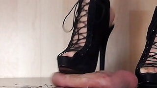 sexy video: High Heel Cock and Ball Crush Trampling