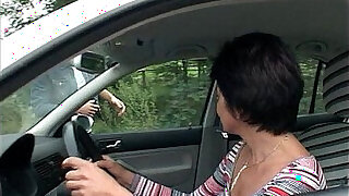 sexy video: Car Troubled Granny Gets Help And Fucked