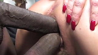 sexy video: Janet Mason makes her son watch as she fucks a big black cock