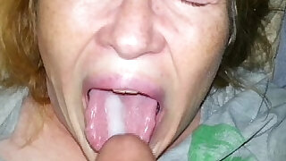 sexy video: real son feeds his mom cum and she eats every last drop