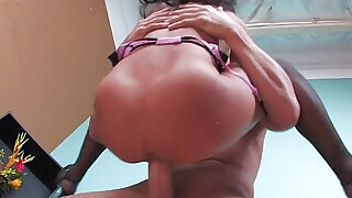 sexy video: Asa Akira Gets shaved pussy Pounded!