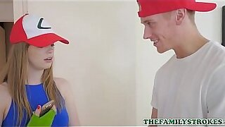 sexy video: Crazy Blonde Teen Fucks Her Step Brother