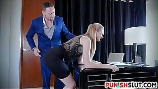 sexy video: Finger Punished Boss Face Fucking