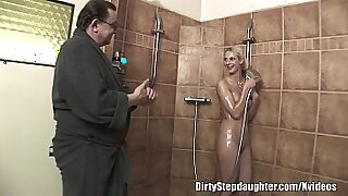 sexy video: Horny Blonde StepDaughter Fucks Wet Dad And Lover. Ha